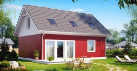 Практичный дом для небольшого участка, простой в строительстве, дешевый в эксплуатации.