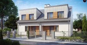 Компактные дома близнецы в современном стиле с уютным интерьером.