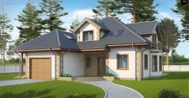 Просторный и уютный дом с мансардным этажом, подвариант проекта Z58.
