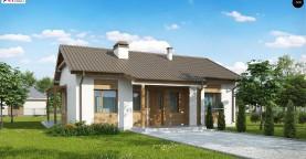 Проект одноэтажного дома с приятным дизайном