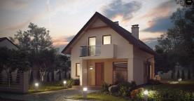 Аккуратный, практичный дом, также для узкого участка.