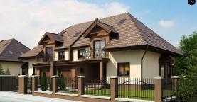 Проект домов близнецов с гаражом и дополнительным помещением на чердаке.