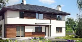 Вариант Z159 просторного двухэтажного дома с плитами перекрытия