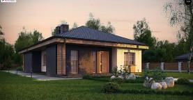 Красивый одноэтажный дом с удобной планировкой