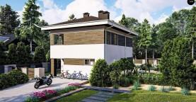 Вариант двухэтажного дома проекта Zz3