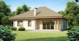 Практичный одноэтажный дом с большим гаражом, просторной гостиной и двумя спальнями.