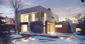 Комфортный современный дом с дополнительным помещением для коммерческого использования.
