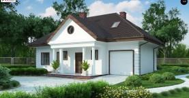 Проект дома в классическом стиле с роскошной мансардой и стильным экстерьером.