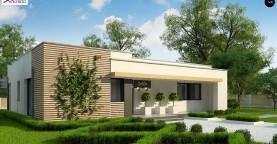 Современный комфортабельный одноэтажный дом с функциональным интерьером и уютной террасой.