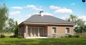 Версия проекта Z24 с кирпичными фасадами.