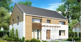 Энергоэффективный дом оригинального дизайна с просторной гостиной.