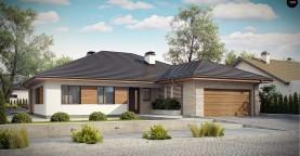 Комфортный одноэтажный дом с большой террасой.
