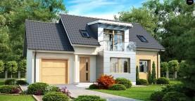 Традиционный практичный дом с современными элементами архитектуры.