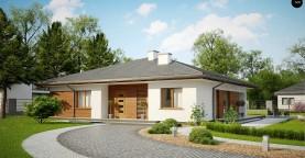 Стильный одноэтажный дом с комфортной крытой террасой
