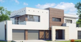 Большой дом в современном стиле с гаражом на 2 машины.