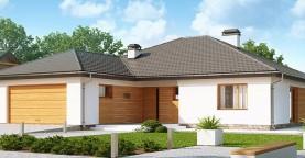 Версия одноэтажного дома Z199 с измененной планировкой