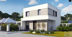 Простой аккуратный проект двухэтажного дома с плоской кровлей
