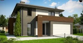 Уменьшенная версия проекта z156 с гаражем и стильным фасадом