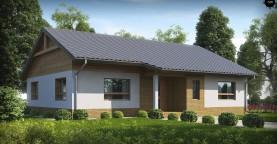 Версия увеличеного одноэтажного дома Z41