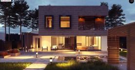 Проект двухэтажного дома с современным фасадом и удобным интерьером.