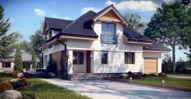 Комфортный дом привлекательного дизайна с дополнительной комнатой над гаражом.