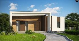 Современный и функциональный одноэтажный дом с уникальной архитектурной формой.