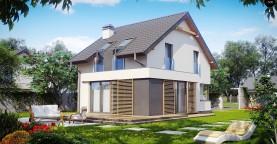 Дом простой энергосберегающей формы со светлым интерьером, подходящий для узкого участка.
