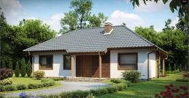 Проект одноэтажного классического дома адаптированного для каркасной технологии строительства.