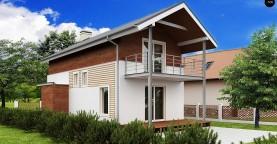 Проект двухэтажного дома для очень узкого участка.