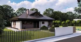 Комфортный одноэтажный дом с мансардой