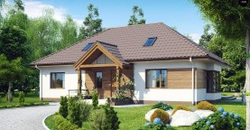 Проект традиционного дома с возможностью адаптации чердачного помещения.