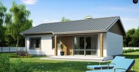 Компактный дом с двускатной крышей — выгодный, функциональный и практичный.