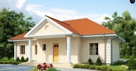 Проект в стиле дворянской усадьбы с возможностью обустройства чердачного помещения.