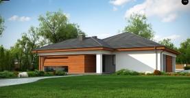 Проект комфортного одноэтажного дома с гаражом для двух авто.