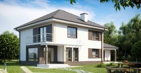 Комфортабельный двухэтажный дом традиционной формы с гаражом.