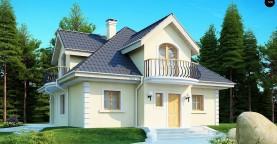 Проект изысканного классического дома с мансардой.