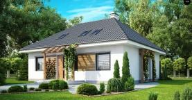 Удобный и красивый дом традиционного характера с двумя дополнительными спальнями на первом этаже.