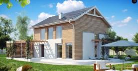 Выгодный в строительстве и эксплуатации двухэтажный дом простой формы.