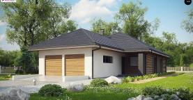 Одноэтажный дом в современном стиле с двойным гаражом