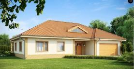 Проект просторного одноэтажного дома с возможностью обустройства мансарды.