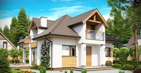 Проект практичного и уютного традиционного дома.