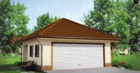 Современный проект просторного гаража для двух авто