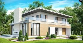 Просторный современный дом утонченного дизайна с богатым интерьером.