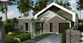 Cовременный проект дома с оригинальным экстерьером и грамотной функциональной планировкой