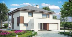 Элегантный комфортабельный двухэтажный дом с современными элементами архитектуры.