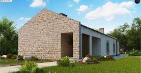 Проект для узкого участка без гаража с тремя спальнями