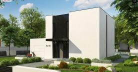 Проект современного односемейного дома с гаражом на одну машину.