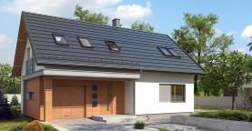 Аккуратный функциональный дом с мансардой и гаражом.
