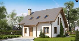 Один из вариантов проекта мансардного дома Z162 V3