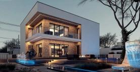 Современный дом для одной семьи простой формы